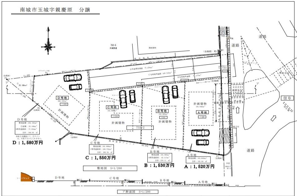 南城市玉城字親慶原分譲地 全4区画